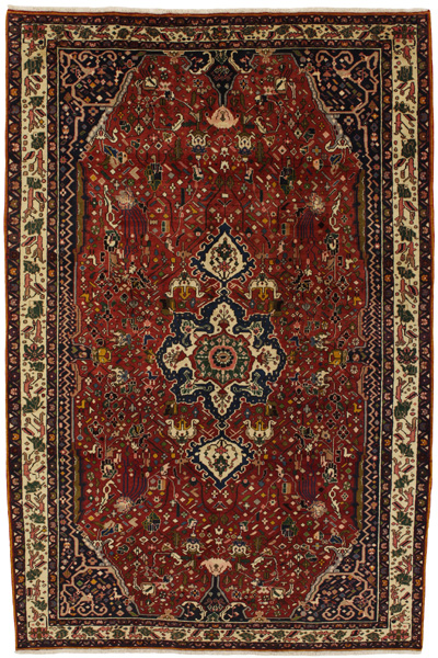 Bakhtiari Persian Carpet 307x200