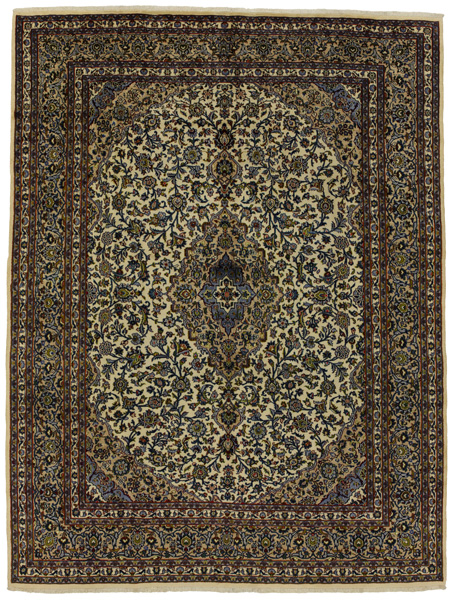 Kashan Persian Carpet 389x293