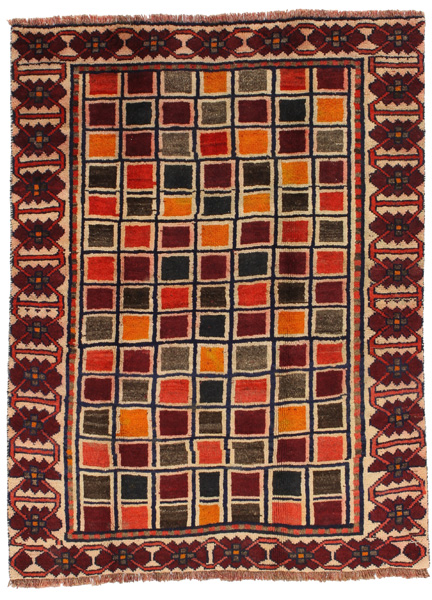 Gabbeh - Bakhtiari Persian Carpet 187x140
