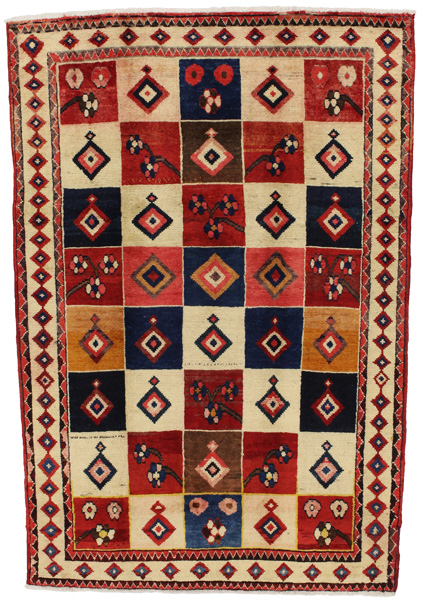 Gabbeh - Bakhtiari Persian Carpet 220x150