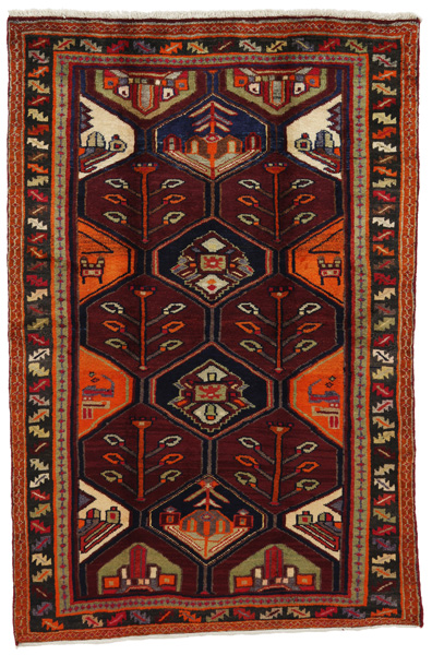 Bakhtiari Persian Carpet 197x129