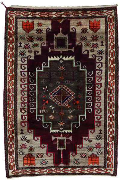Gabbeh - Lori Persian Carpet 212x140