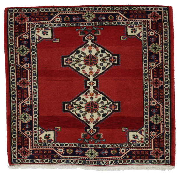 Jozan - Sarouk Persian Carpet 80x85