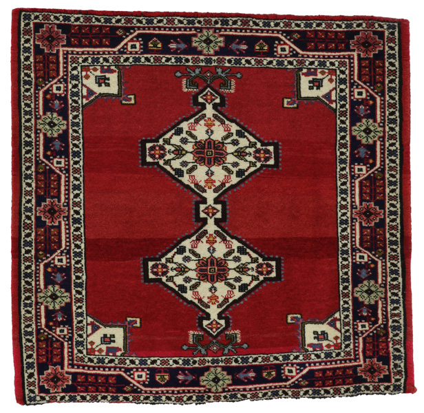 Jozan - Sarouk Persian Carpet 80x80