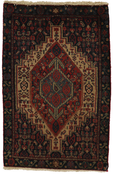 Senneh - Kurdi Persian Carpet 106x70