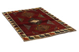 Gabbeh - Qashqai Persian Carpet 186x122 - Picture 1