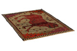 Gabbeh - Qashqai Persian Carpet 178x127 - Picture 1