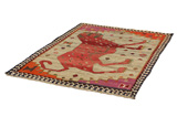 Gabbeh - Qashqai Persian Carpet 178x127 - Picture 2