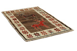 Gabbeh - Qashqai Persian Carpet 191x118 - Picture 1