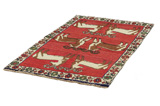 Gabbeh - Qashqai Persian Carpet 187x109 - Picture 2