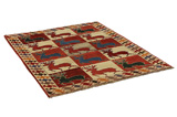 Gabbeh - Bakhtiari Persian Carpet 200x153 - Picture 1