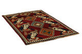 Gabbeh - Qashqai Persian Carpet 190x121 - Picture 1