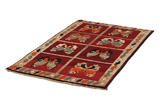 Gabbeh - Qashqai Persian Carpet 177x102 - Picture 2