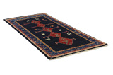 Gabbeh - Qashqai Persian Carpet 211x105 - Picture 1