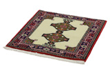 Jozan - Sarouk Persian Carpet 83x81 - Picture 2