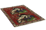 Qashqai Persian Carpet 148x100 - Picture 1